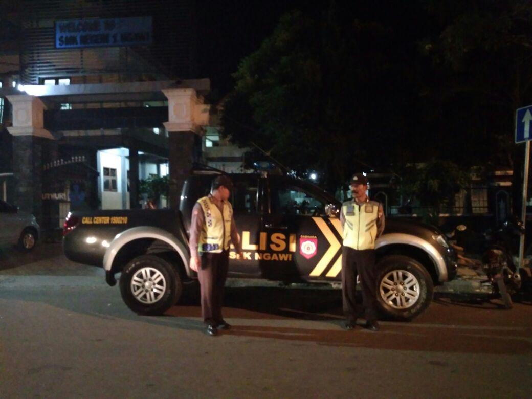 Patroli Malam Hari Student Fair 2018 Alun Barat Kabupaten Ngawi