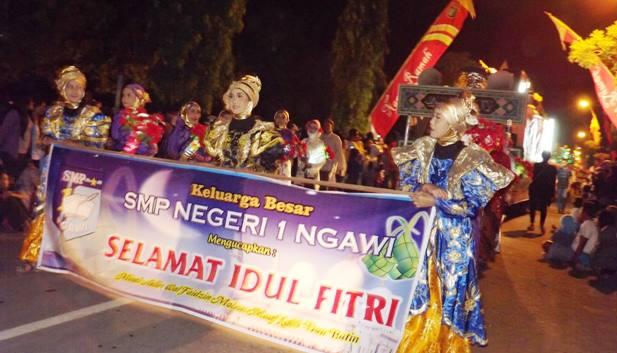 Semarak Meriahnya Gema Takbir Keliling Kabupaten Ngawi Bsdj Tv Berkumandang
