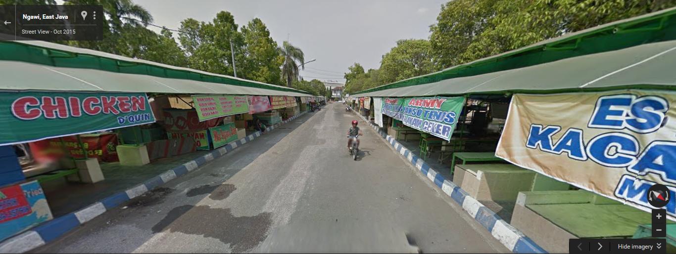 Traveling Alun Ngawi Dulu Shelter Pkl Kuliner Sumber Google Streetview