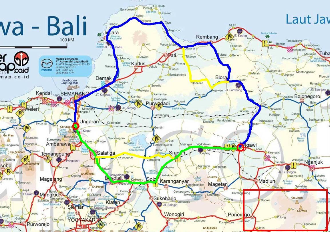 Traveling Sejenak Single Touring Ungaran Jepara Tayu Rute Biru Berangkat