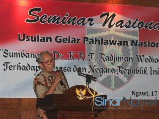 Usulkan Dr Krt Radjiman Wedyodiningrat Menjadi Pahlawan Nasional Sinar Ngawi