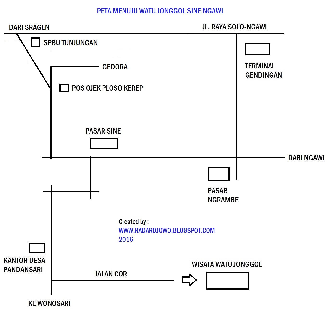 Wisata Watu Jonggol Sine Ngawi 2 Radar Djowo Lokasi Kab
