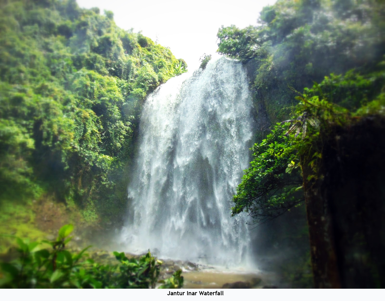 Beauty Landscape Indonesia April 2016 Jantur Inar Waterfall Located Kampung