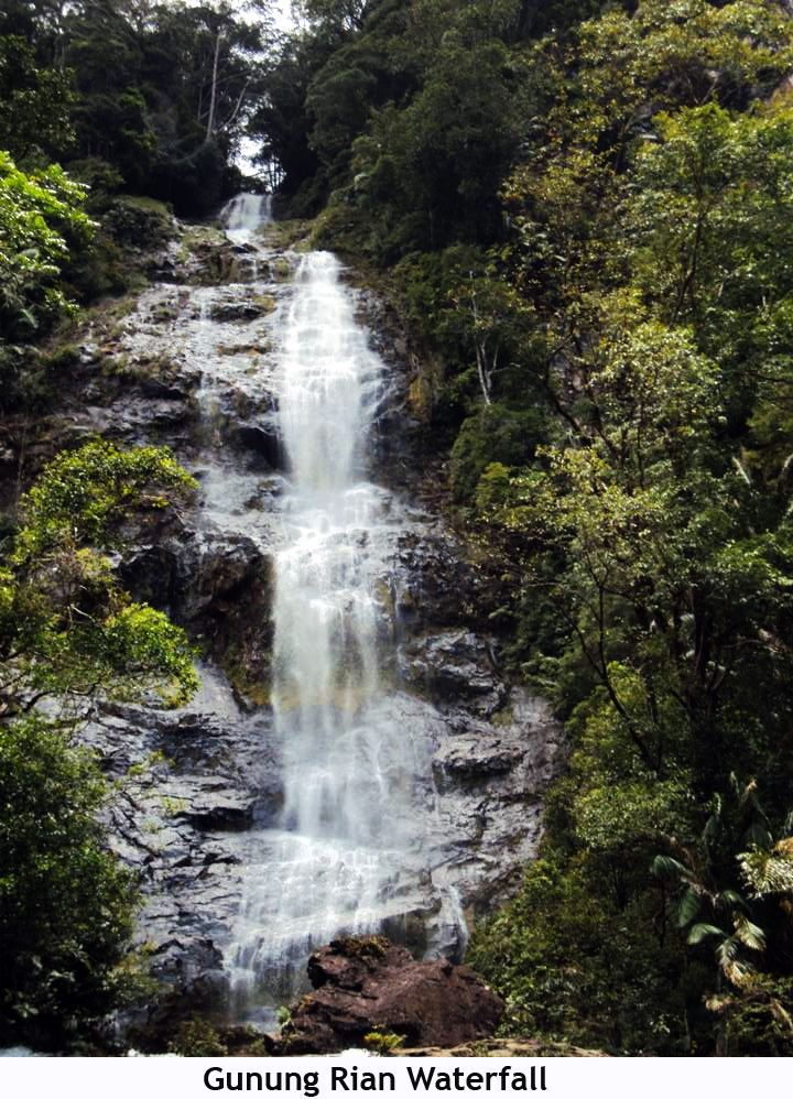 Beauty Landscape Indonesia Beautiful Scenary North Gunung Rian Waterfall Steep