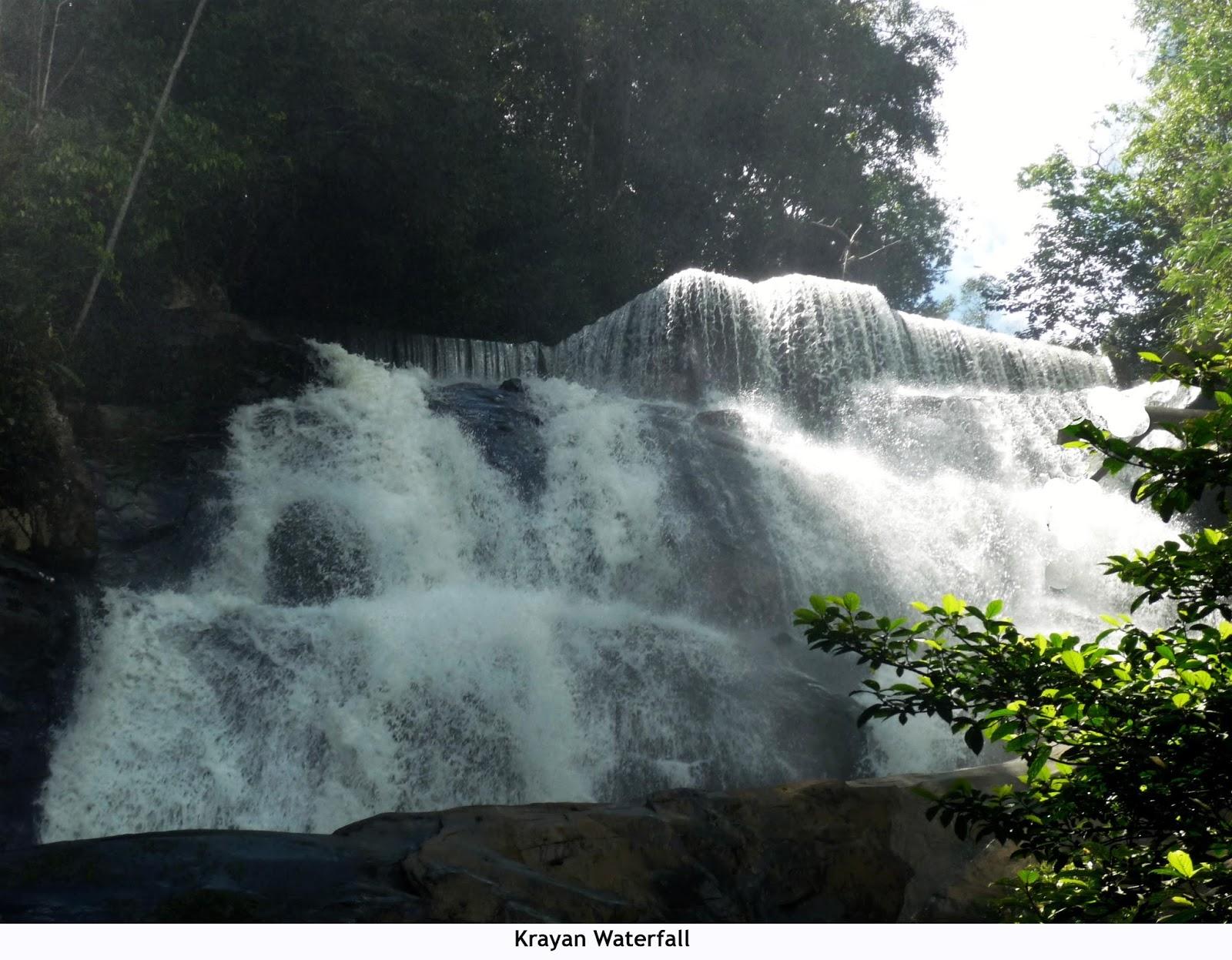 Beauty Landscape Indonesia Beautiful Scenary North Krayan Waterfall Paremayo Located