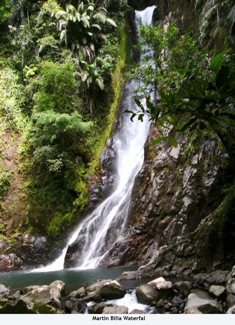 Beauty Landscape Indonesia Beautiful Scenary North Martin Billa Waterfall Located