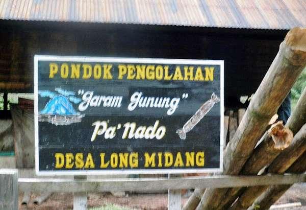 Coretan Dinding Garam Gunung Long Midang Desa Kecamatan Krayan Kabupaten