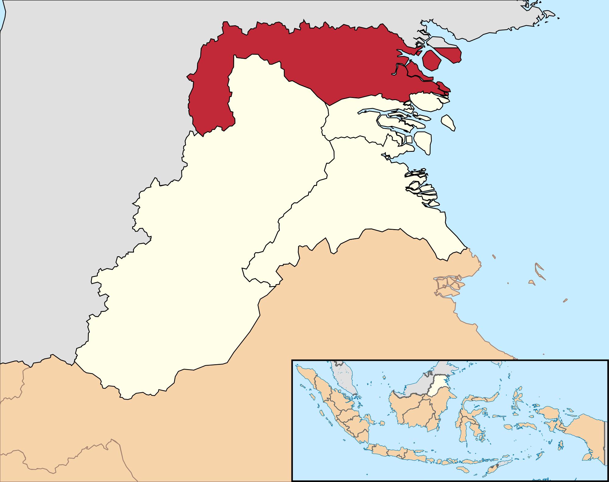Kabupaten Nunukan Wikipedia Bahasa Indonesia Ensiklopedia Bebas Lokasi Kalimantan Utara
