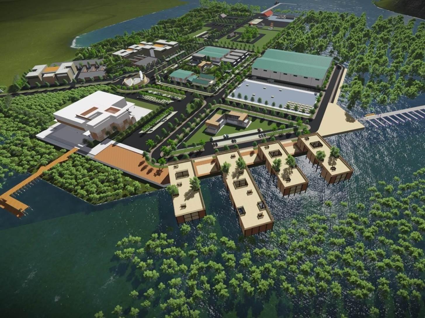 Tekno Park Rangsang Sektor Pertanian Kelautan Perspective Id Site Plan