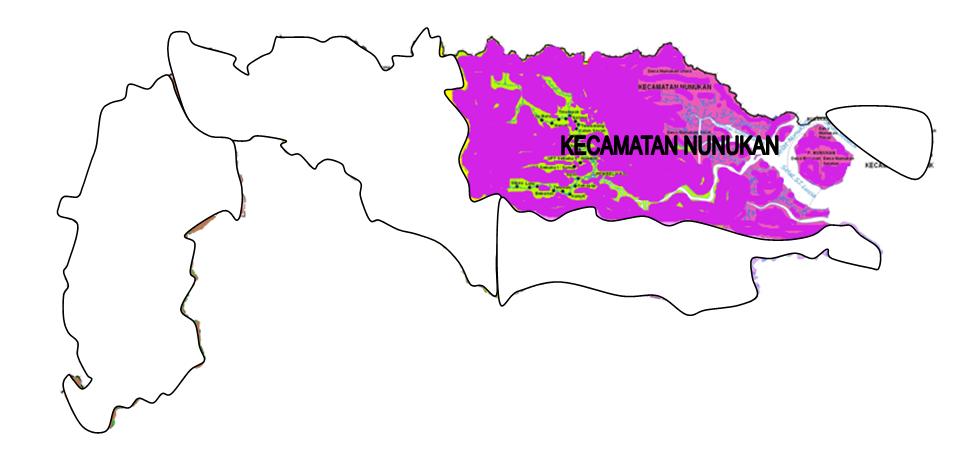 Nunukan Sebagai Ibukota Kabupaten Kecamatan Memiliki Jumlah Penduduk Besar Wilawah