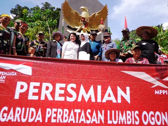 Mppi Bangun Tugu Garuda Pancasila Perbatasan Ri Malaysia Pemuda Penjaga