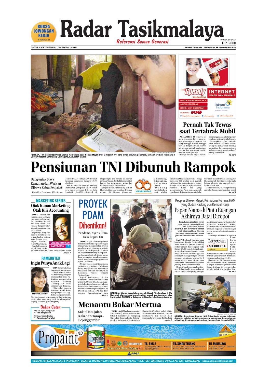 Radar Edisi 12 Mei Tasik Issuu 1 September 2012 Giram