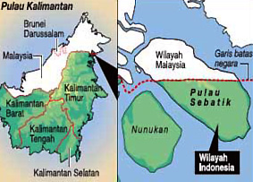 Bintang Mind Peta Lokasi Pulau Nunukan Kalimantan Utara Berada Perbatasan