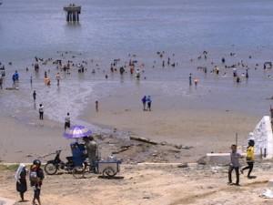 Wisata Nunukan Pantai Batu Lamampu Galeri Nusantara Icing Menjadi Andalan