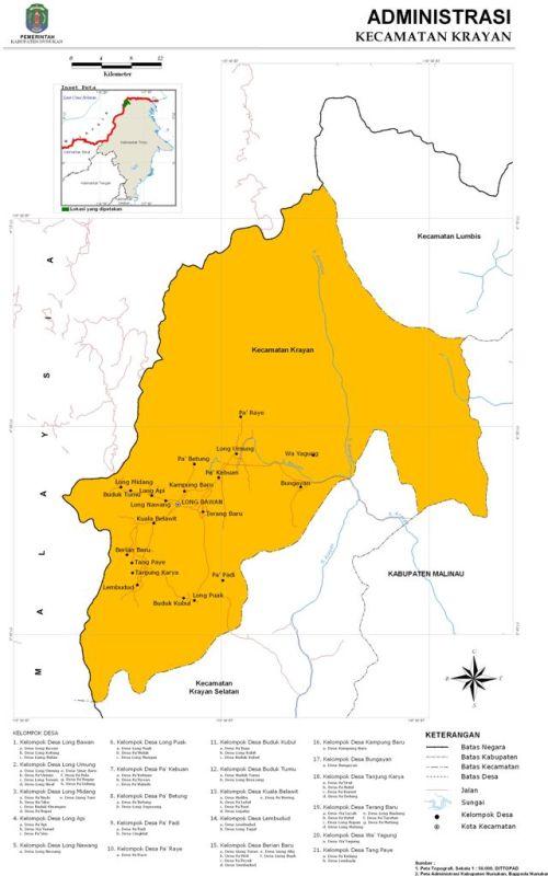 Kecamatan Krayan Nunukan Long Bawan Kab