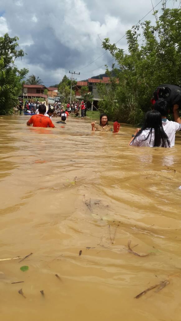 Krayan Kembali Dilanda Banjir Aktifitas Masyarakat Lumpuh Total Long Bawan