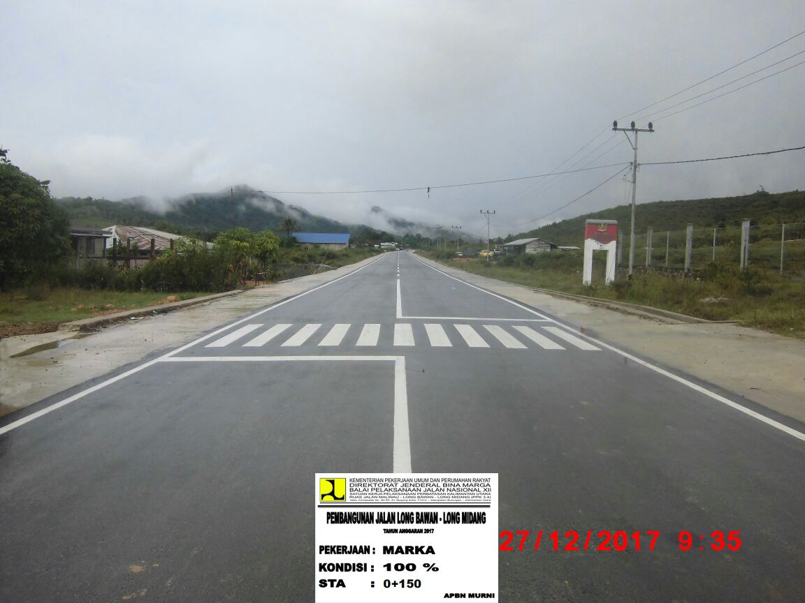 Peningkatan Jalan Long Bawan Midang Diapresiasi Netizen Niaga Kecamatan Krayan