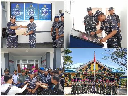 Danlantamal Xiii Tinjau Kesiapsiagaan Posal Satgas Pamtas Marinir Kabupaten Nunukan
