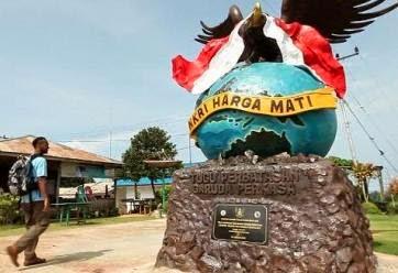Kecamatan Sebatik Siap Jadi Dob Kalimantan Utara Tugu Perbatasan Garuda