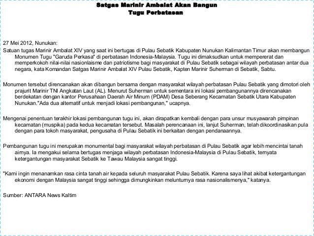 Wawasan Nusantara Kasus Ambalat 12 Satgas Marinir Bangun Tugu Perbatasan