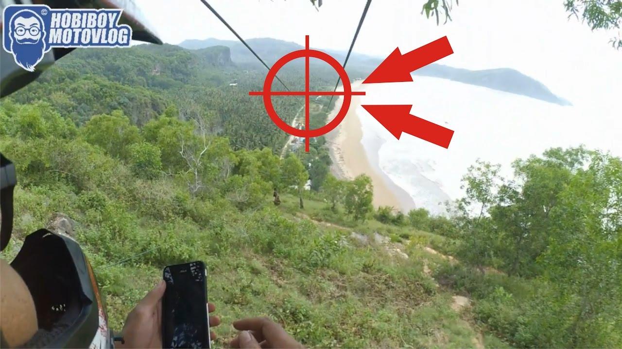 Flying Fox Extreme Terpanjang Se Asia Pantai Taman Pacitan Indonesia