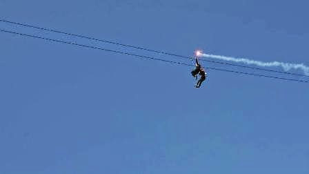Flying Fox Pantai Taman Desa Hadiwarno Lorok Pacitan Jatim Kab