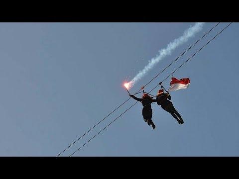 Jalur Flying Fox Terpanjang Indonesia Youtube Pantai Taman Kab Pacitan