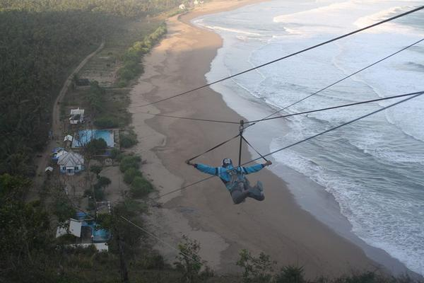 Pacitan Daily News Twitter Atraksi Mantap Tim Flying Fox Pantai