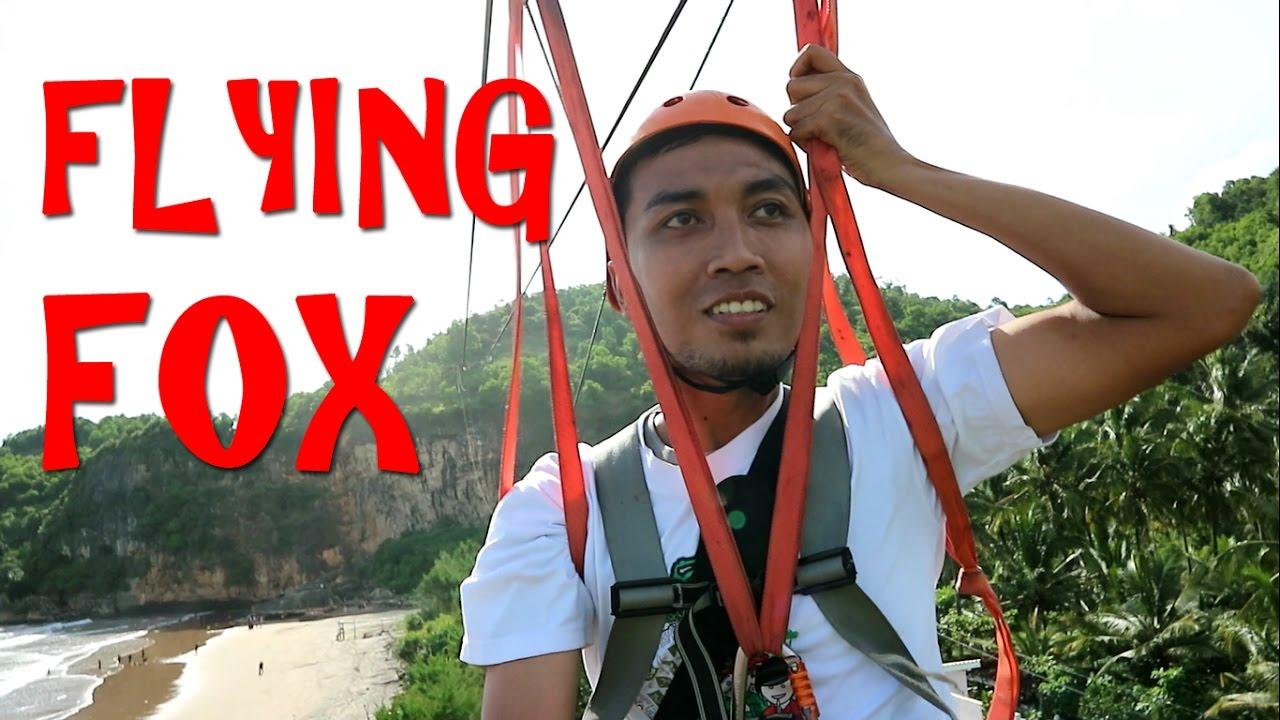 Pantai Taman Pacitan Permainan Flying Fox Terpanjang Se Indonesia Kab