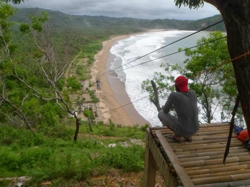 Paper Pantai Taman Ngadirojo Adventure Konservasi Flying Fox Kab Pacitan