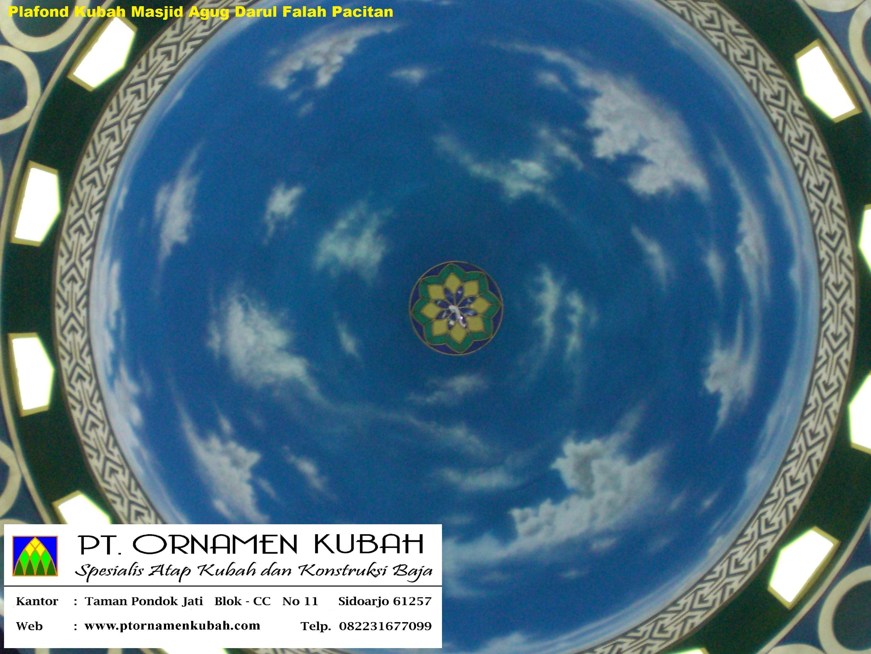 14 Plafond Masjid Agung Darul Falah Pacitan Kubah Enamel Kab