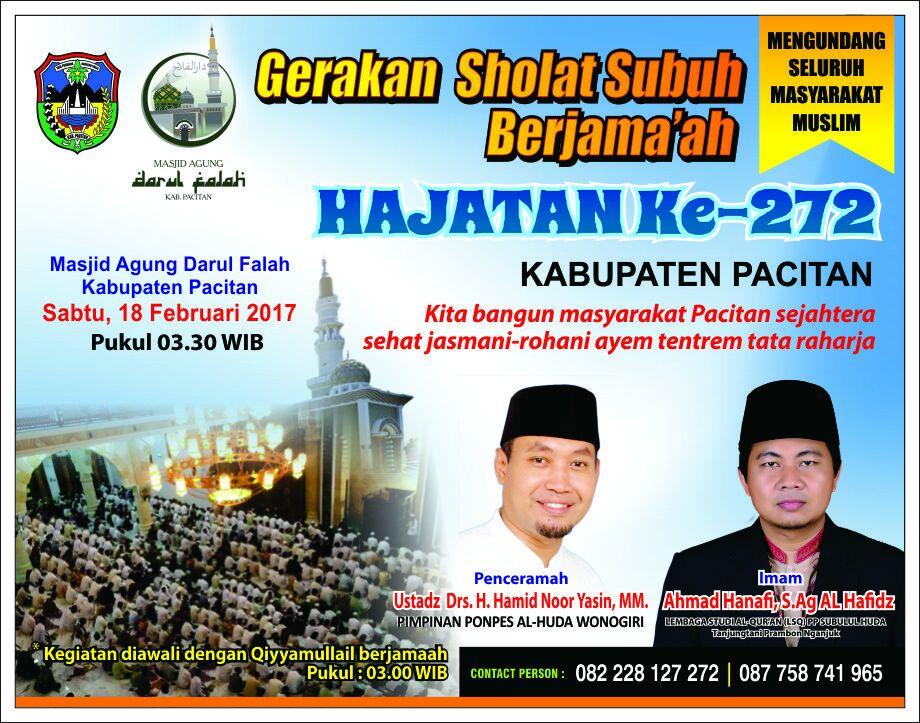 Gerakan Sholat Subuh Berjamaah Rayakan Hut Pacitan 272 Portal Peringati