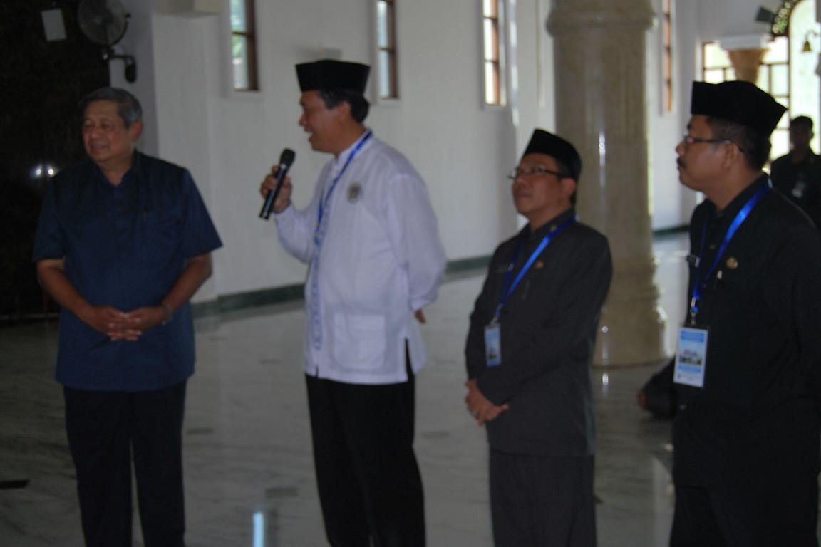 Ketua Panitia Pembangunan Masjid Agung Darul Falah Ir Wasi Prayitno