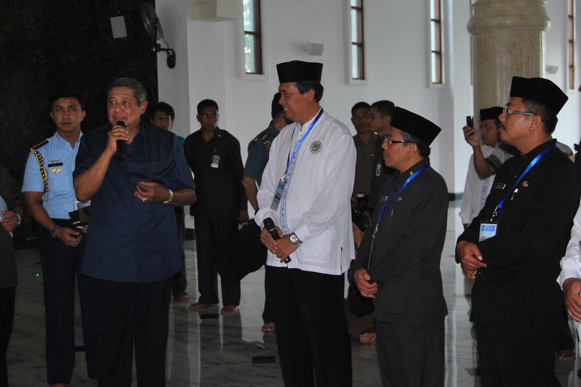 Presiden Sby Memberikan Apresiasi Atas Keberhasilan Pembangunan Masjid Agung Darul