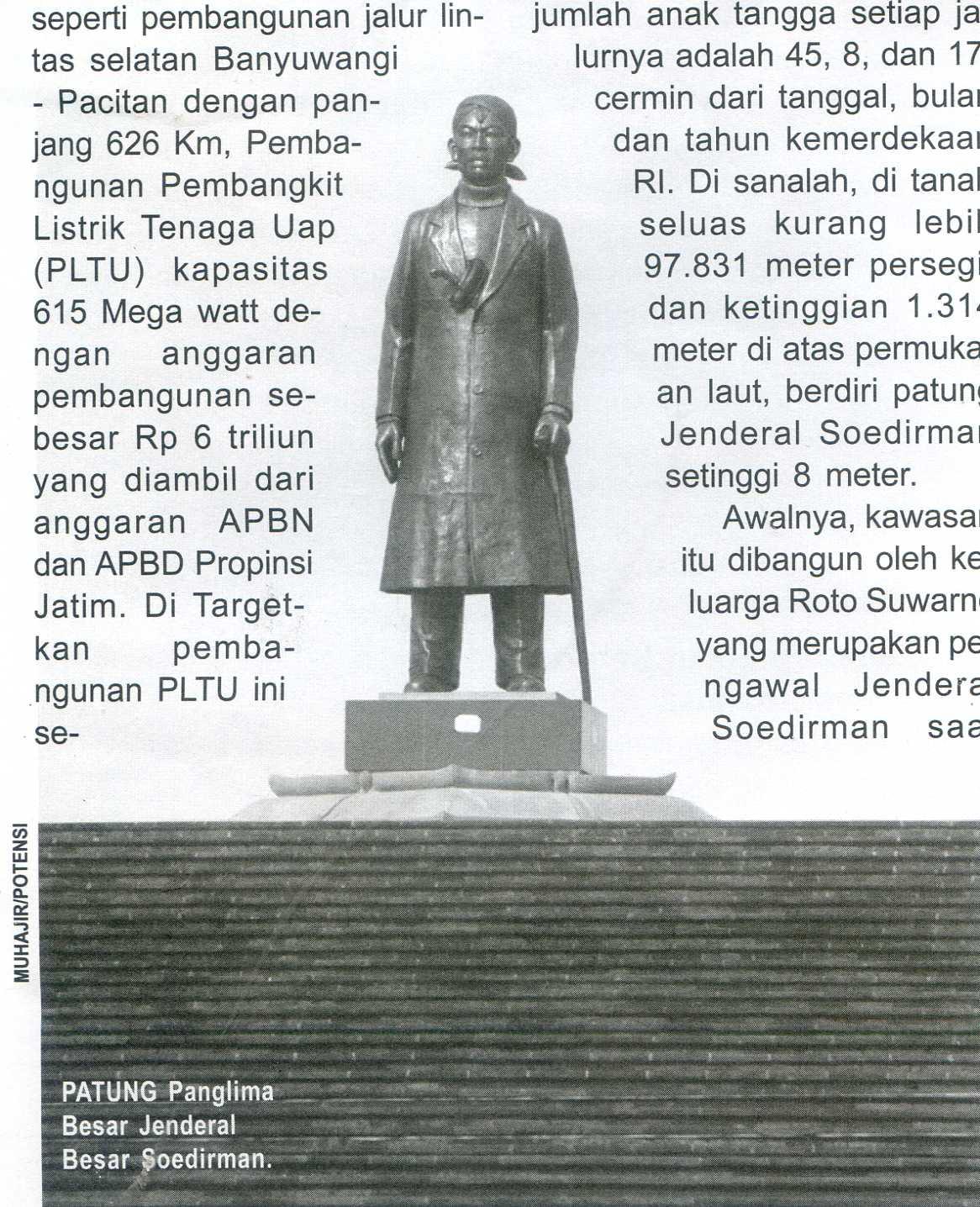 Monumen Jenderal Soedirman Pacitan Pusaka Jawatimuran Kab