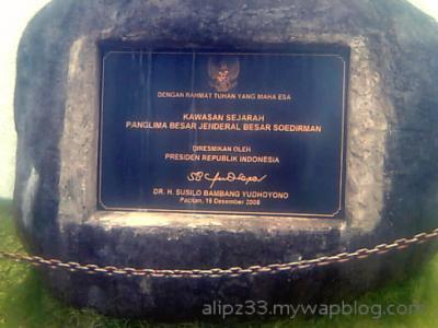 Monumen Jendral Sudirman Pakis Pacitan Kemegahan Tanda Peresmian Oleh Pak