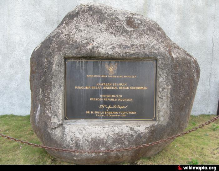 Monumen Jendral Sudirman Pakis Taman Jenderal Soedirman Kab Pacitan