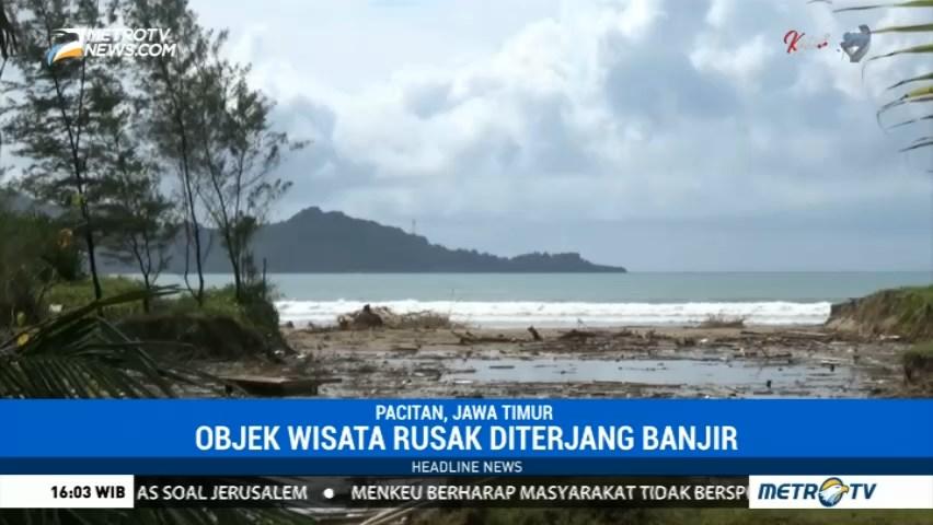 Banjir Rusak Infrastruktur Pantai Teleng Ria Pacitan Mv Kab