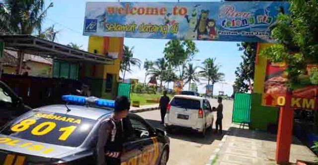 Pacitan Berpatroli Objek Wisata Pantai Teleng Ria Kabupaten Kab