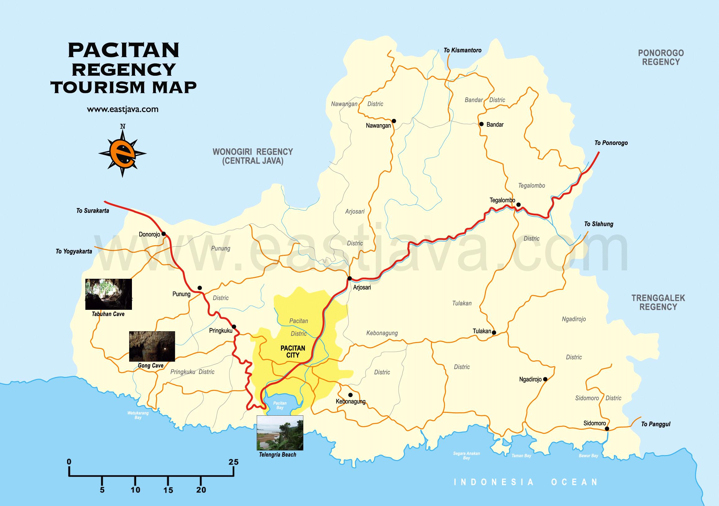 Pacitanisme Tinta Harmoni Peta Kabupaten Pacitan Pantai Teleng Ria Kab