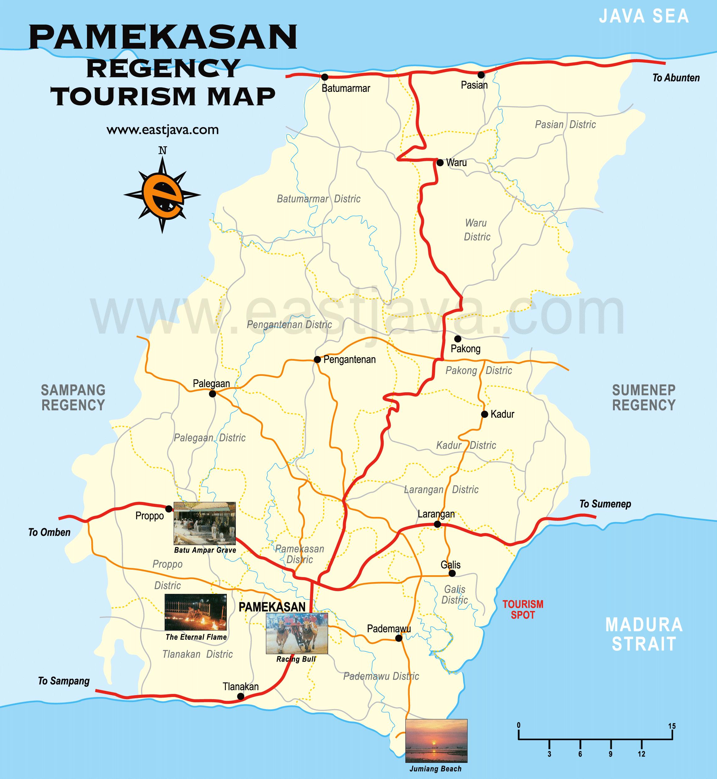Pamekasan Map Madura East Java Indonesia Google Wisata Kab