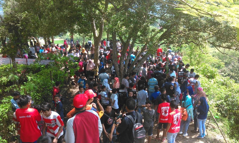Promosikan Bukit Brukoh Dilakukan Sopd Pamekasan Mata Madura Wisata Kab