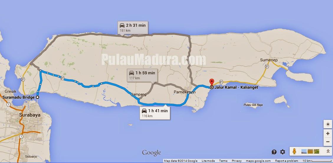 Wisata Pantai Talang Siring Kabupaten Pamekasan Gerbang Pulau Peta Lokasi