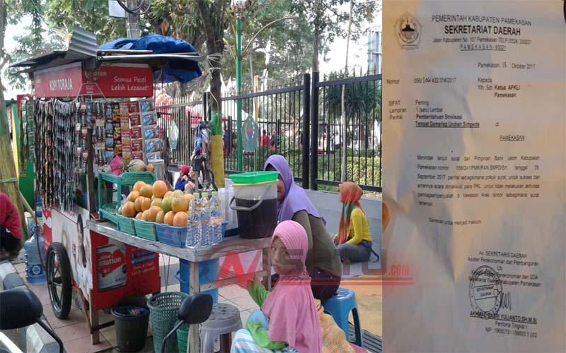 Gara Acara Bank Jatim Pemkab Larang Pkl Berjualan Arek Lancor
