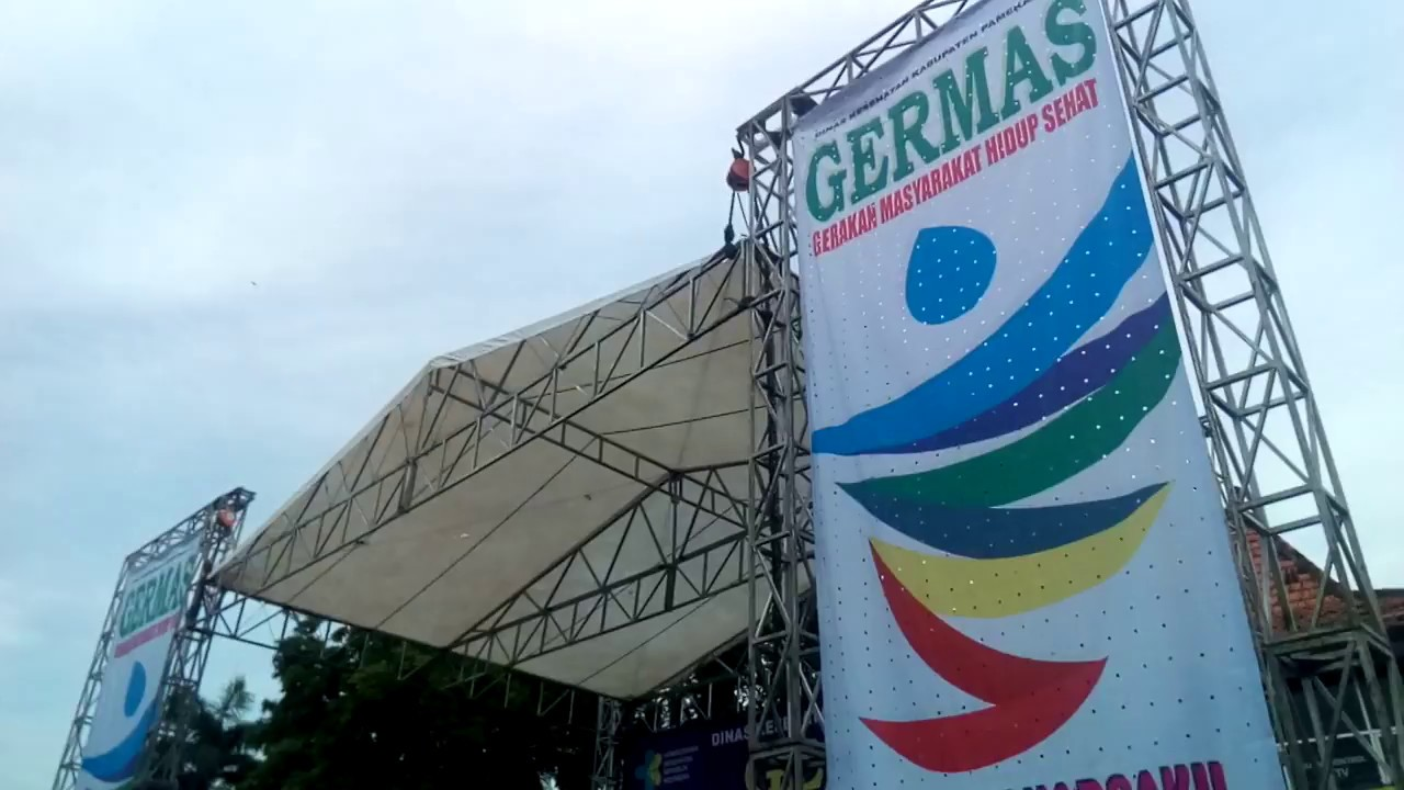 Germas Hkn 53 Lapangan Monumen Arek Lancor Senam Sehat Bereng
