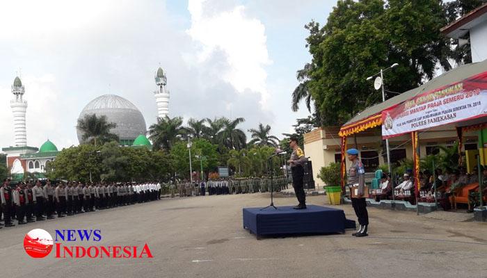Siap Amankan Pilkada Serentak 2018 Polres Pamekasan Gelar Apel Pelaksanaan
