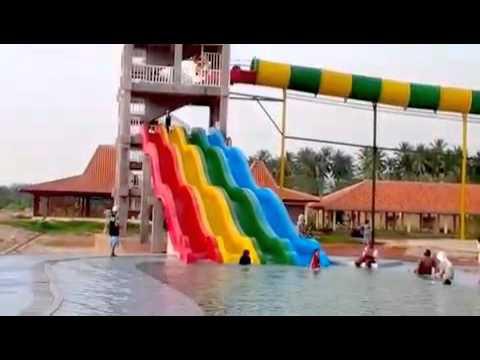 Coconut Island Carita Waterpark Beach Resort Youtube Pantai Kab Pandeglang