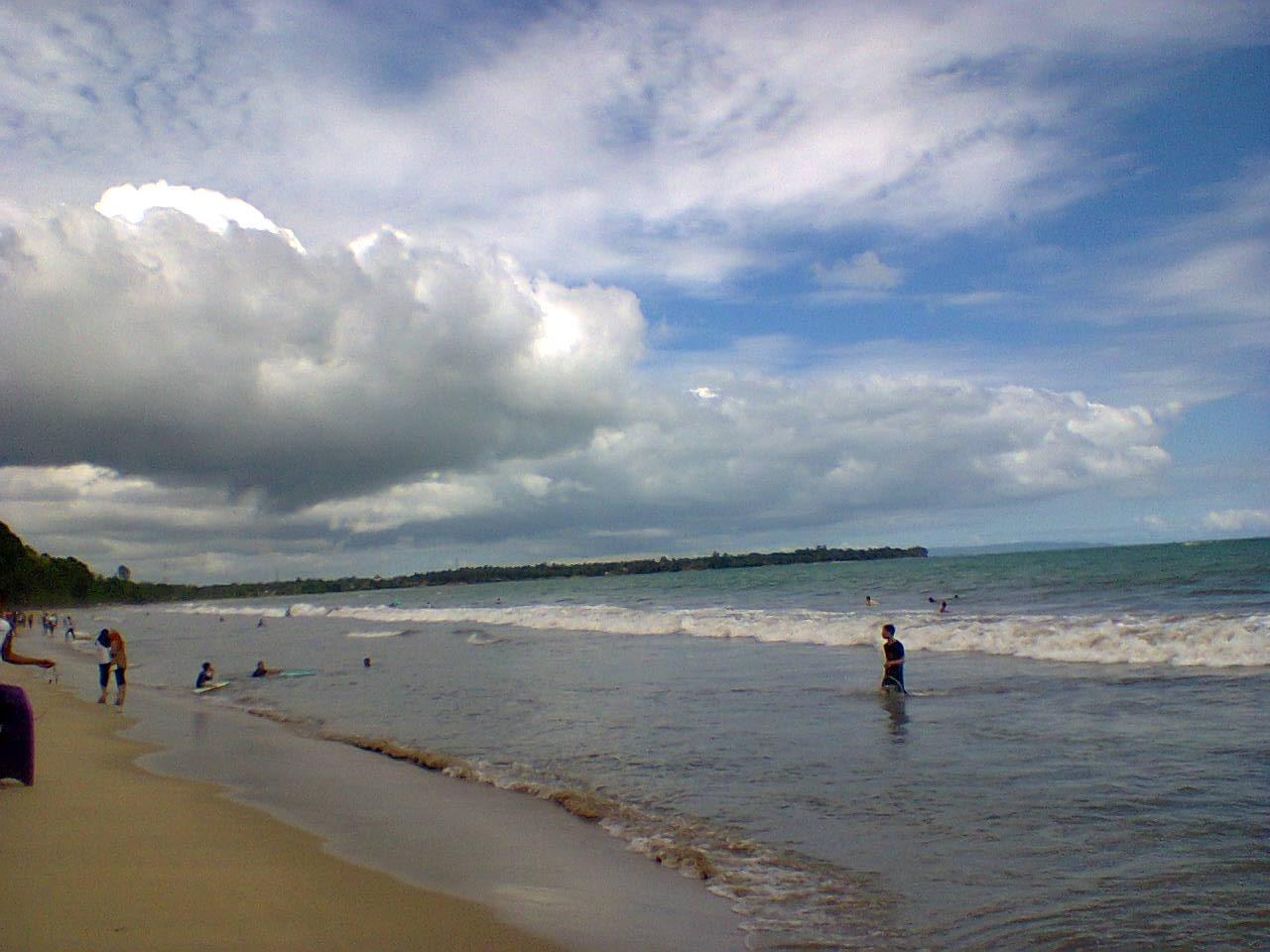 Pantai Pasir Putih Carita Pandeglang Ciomasblog Kab