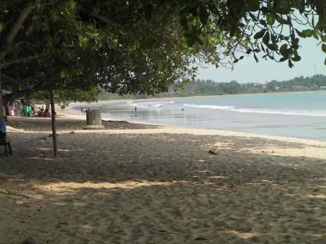 Pesona Pantai Carita Ujung Barat Pulau Jawa Merahputih Kab Pandeglang