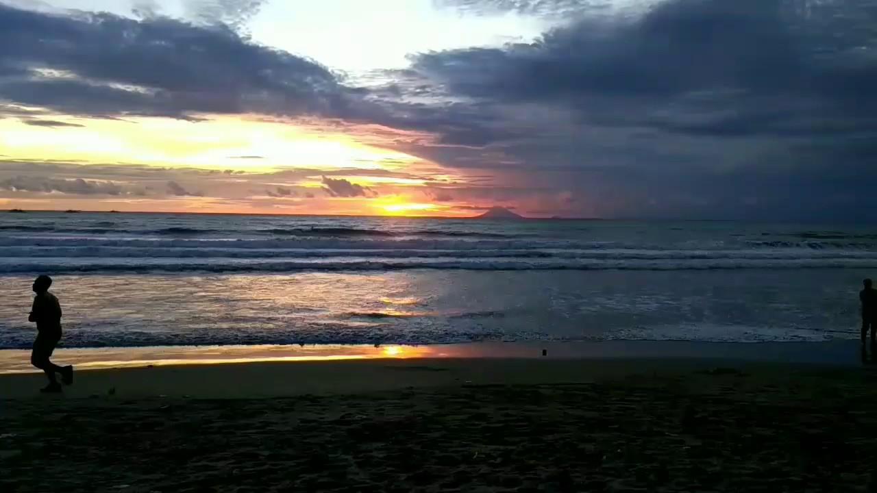 Sunset Pantai Pasir Lombok Carita Pandeglang Banten Youtube Kab